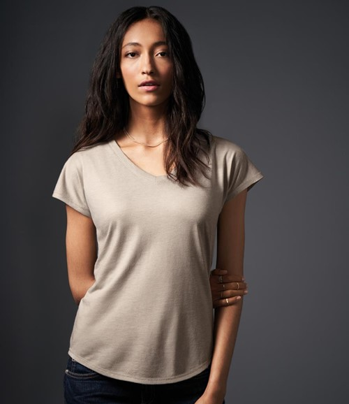 Ladies Tri-Blend V Neck T-Shirt