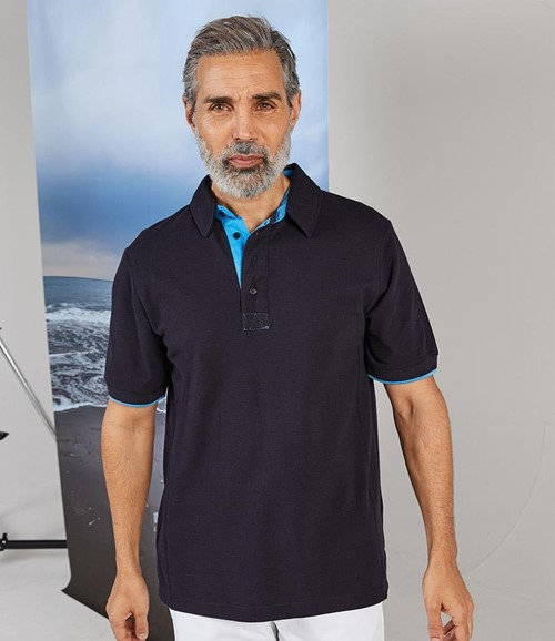 Contrast Cotton Piqué Polo Shirt