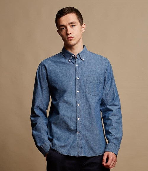 Classic Long Sleeve Chambray Shirt