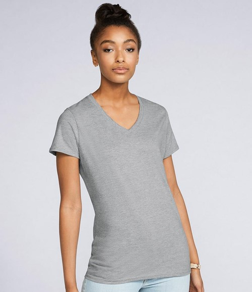 Ladies Premium Cotton® V Neck T-Shirt