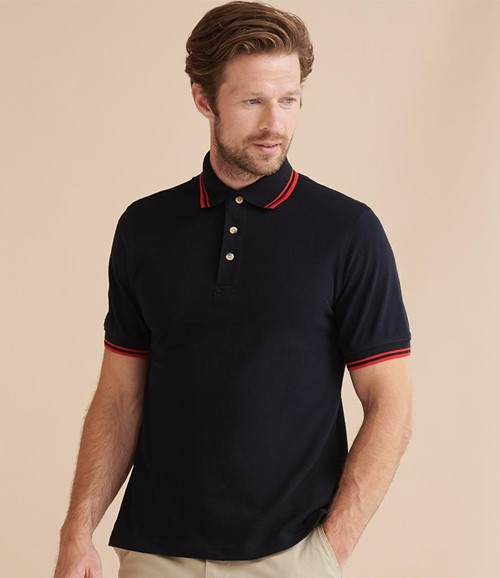 Contrast Double Tipped Cotton Piqué Polo Shirt