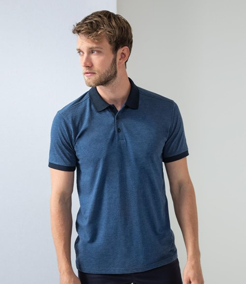Contrast Tri-Blend Jersey Polo Shirt