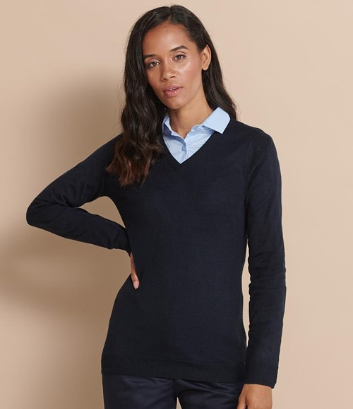 Ladies Acrylic V Neck Sweater