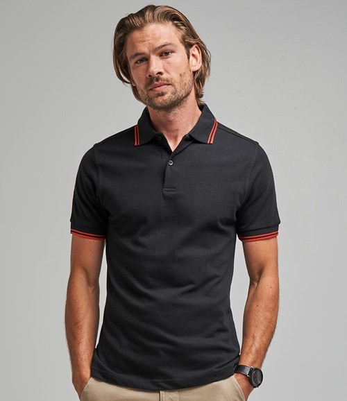 AWDis Stretch Tipped Piqué Polo Shirt