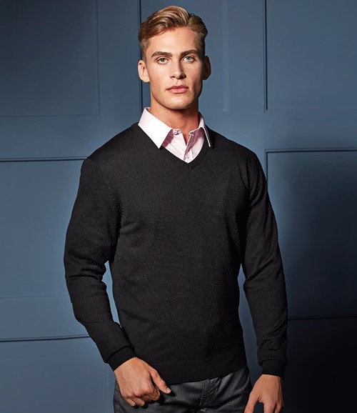 Essential Acrylic V Neck Sweater