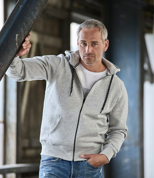Fashion Zip Hooded Sweatshirt