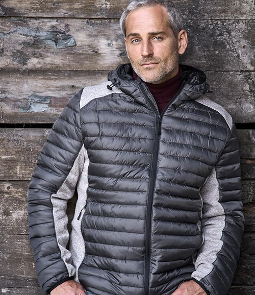 Crossover Hooded Padded Outdoor Jacket