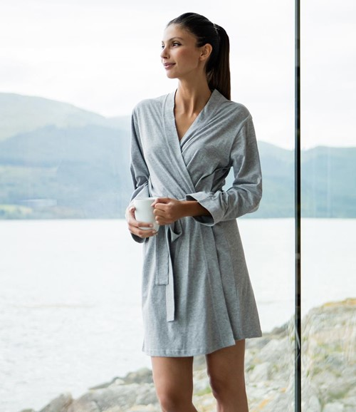 Ladies Cotton Wrap Robe